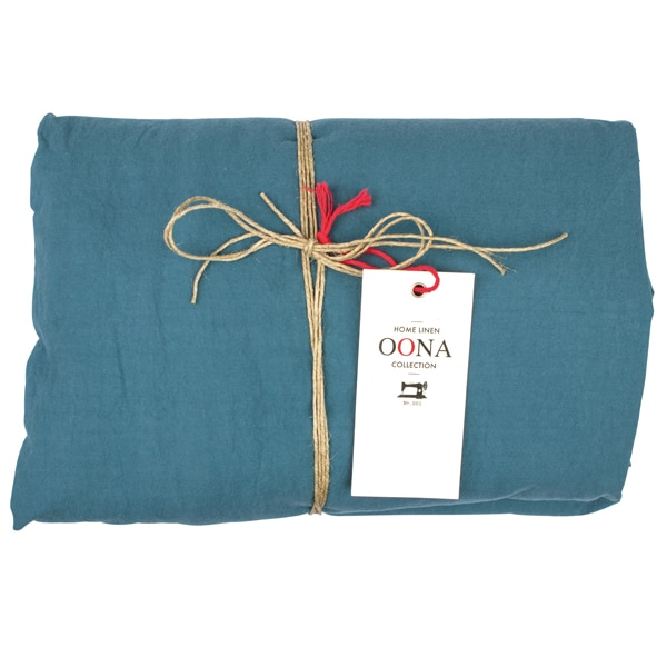 drap housse tealblue 100% coton OONA Home