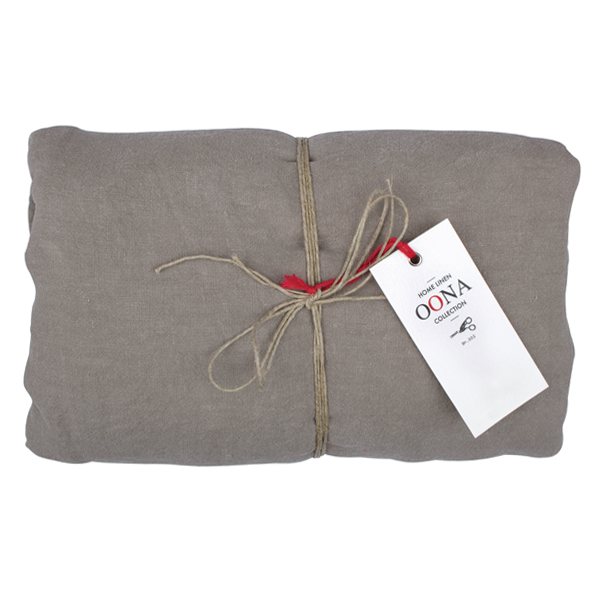 drap housse walnut 100% lin OONA Home