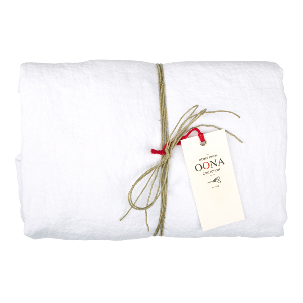 drap housse white 100% lin OONA Home