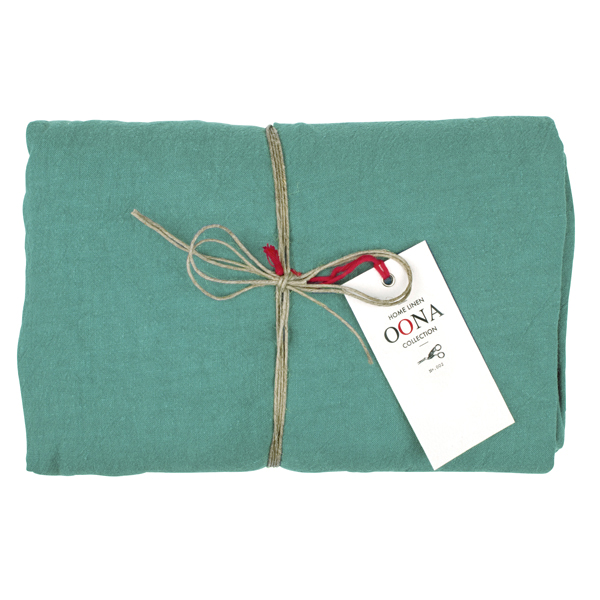 drap housse en lin green sage OONA Home