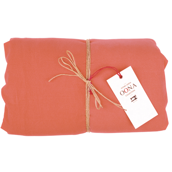 drap housse coton terracota OONA Home