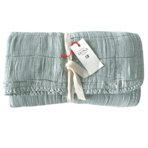 plaid couvre-lit seafoam OONA Home