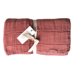 plaid couvre-lit Terracota OONA Home