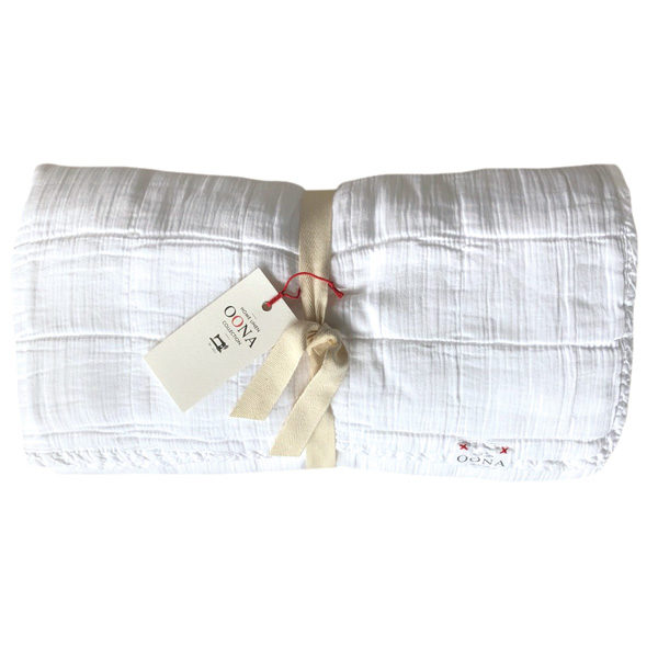 plaidcouvre-lit White OONA Home