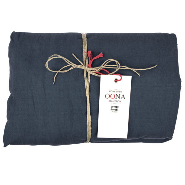 drap housse dark blue OONA Home