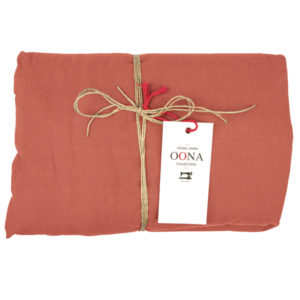 drap housse terracota OONA Home