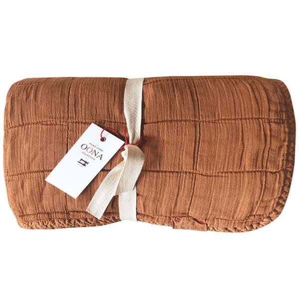 plaid couvre-lit caramel OONA Home