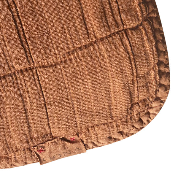plaid couvre-lit caramel OONA Home 2