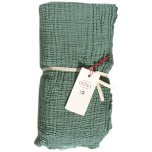 plaid ete gaze de coton greensage OONA Home