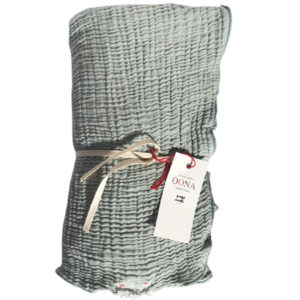 plaid ete gaze de coton seafoam OONA Home