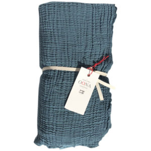 plaid ete gaze de coton tealblue OONA Home