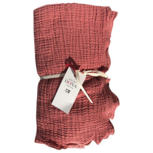 plaid ete gaze de coton terracotta OONA Home