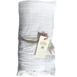 plaid ete gaze de coton white OONA Home