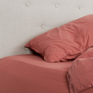 drap housse terracotta oona home