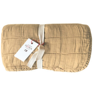 plaid couvre-lit Sand OONA Home